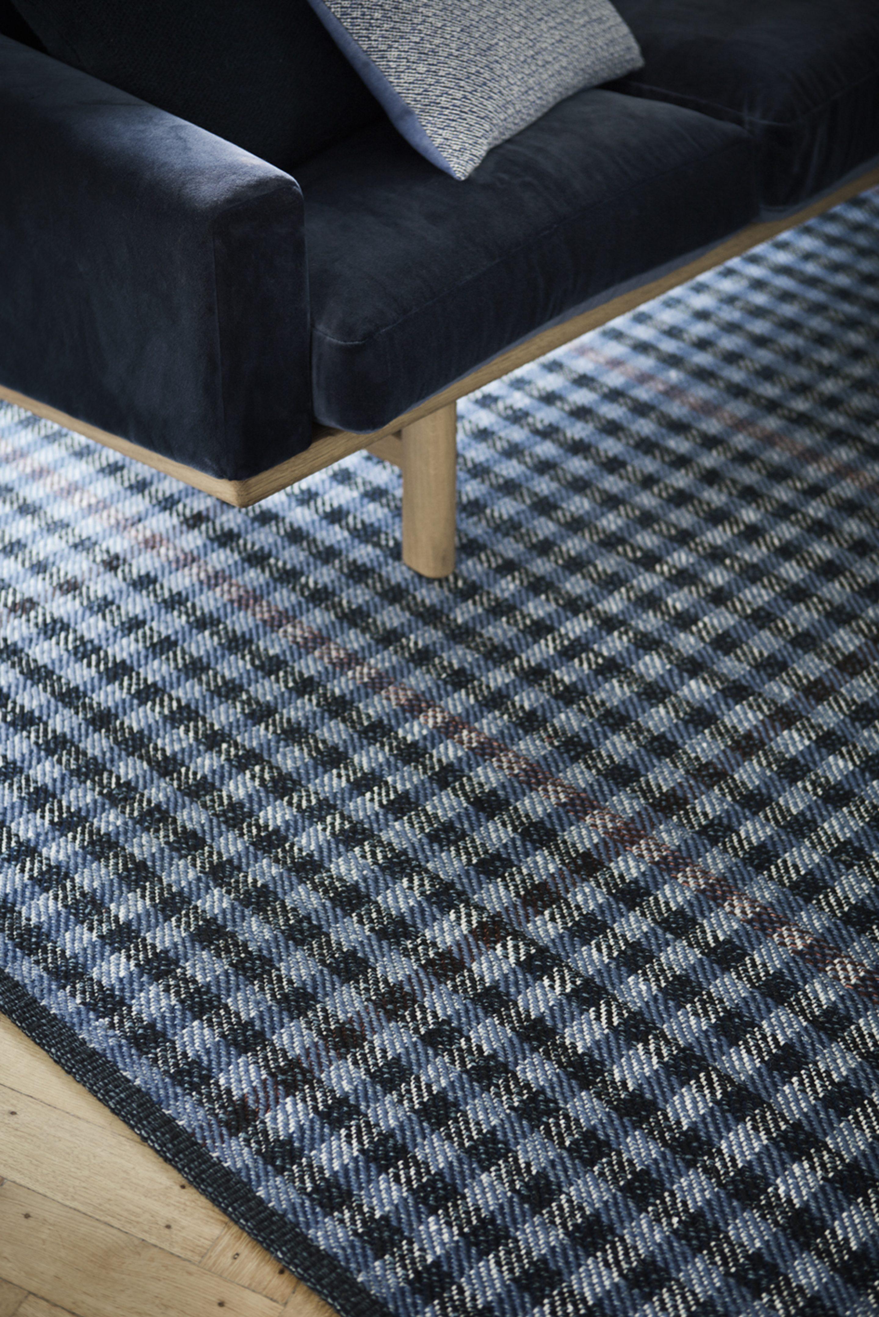 Fabula Lotus Rug Blue Mahogany Wool Hand Woven 1742  A2 72Dpi